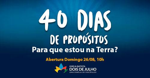 40 Dias de Propósitos